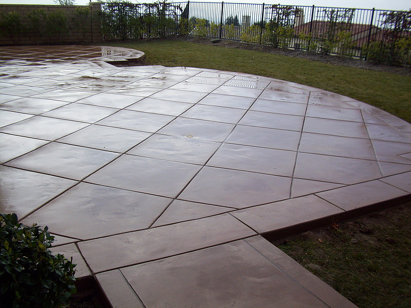 Scored concrete patio home design ideas and pictures for How to clean scored concrete floors